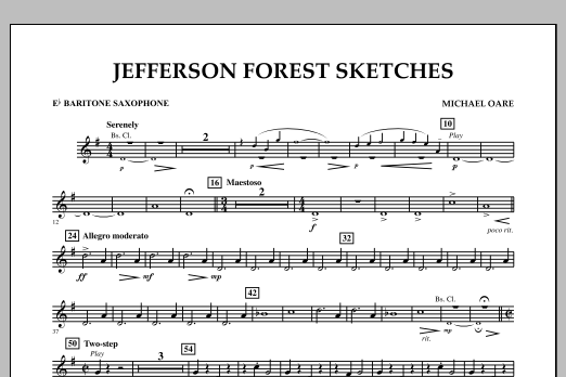 Jefferson Forest Sketches - Eb Baritone Saxophone (Concert Band)