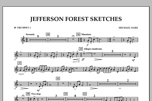 Jefferson Forest Sketches - Bb Trumpet 1 (Concert Band)