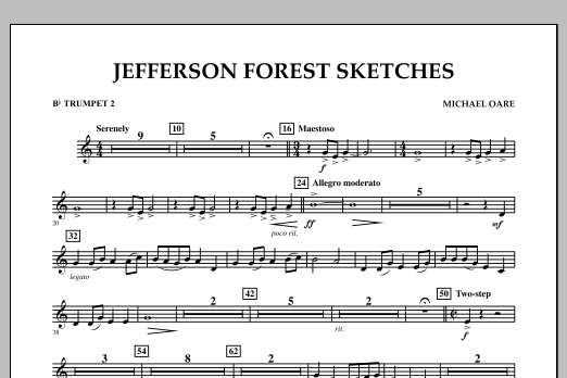 Jefferson Forest Sketches - Bb Trumpet 2 (Concert Band)
