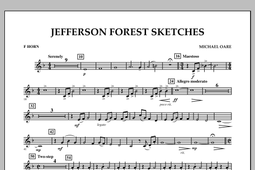 Jefferson Forest Sketches - F Horn (Concert Band)