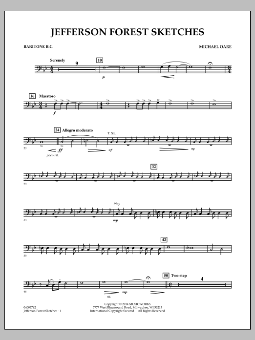 Jefferson Forest Sketches - Baritone B.C. (Concert Band)