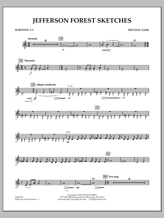 Jefferson Forest Sketches - Baritone T.C. (Concert Band)