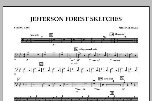 Jefferson Forest Sketches - String Bass (Concert Band)