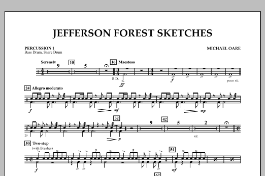 Jefferson Forest Sketches - Percussion 1 (Concert Band)