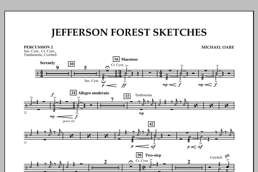 Jefferson Forest Sketches - Percussion 2 (Concert Band)