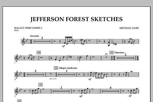 Jefferson Forest Sketches - Mallet Percussion 1 (Concert Band)