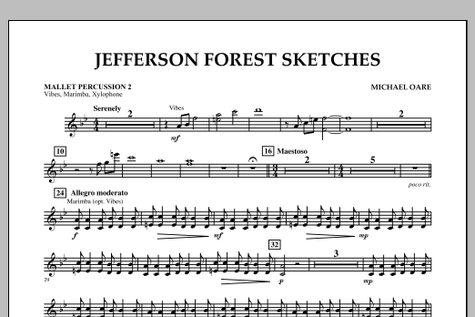 Jefferson Forest Sketches - Mallet Percussion 2 (Concert Band)