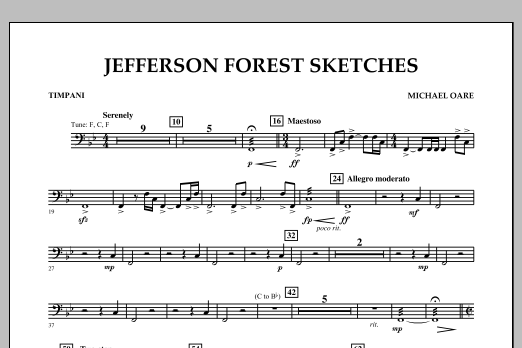 Jefferson Forest Sketches - Timpani (Concert Band)