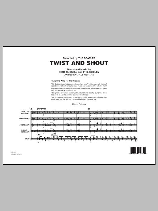 Twist and Shout - Conductor Score (Full Score) (Jazz Ensemble)