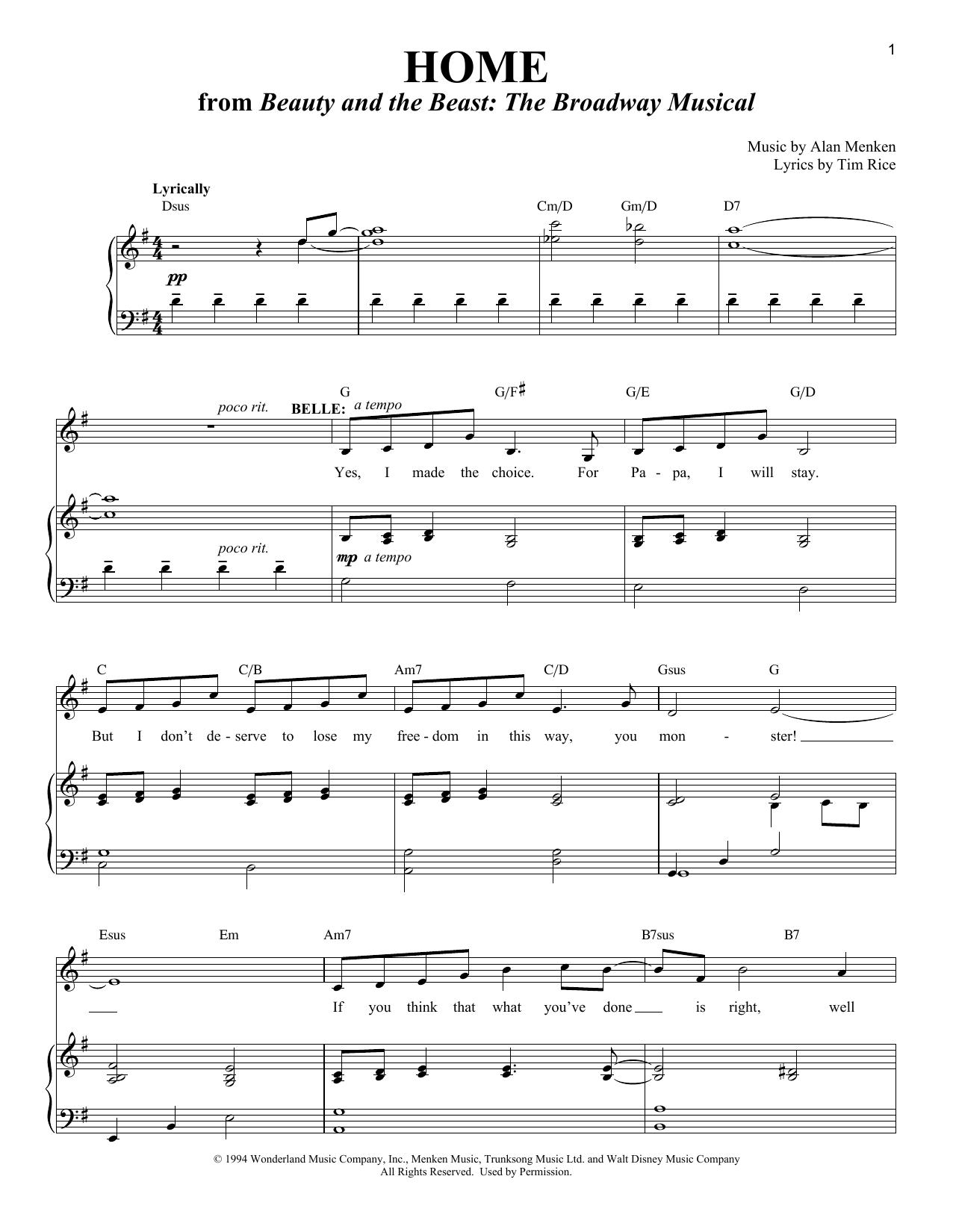 Home (Piano & Vocal)