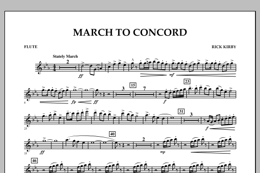 March to Concord - Flute (Concert Band)