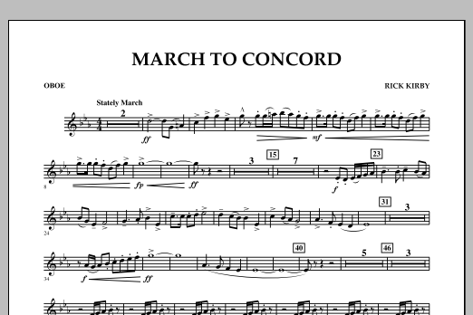 March to Concord - Oboe (Concert Band)