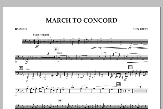 March to Concord - Bassoon (Concert Band)
