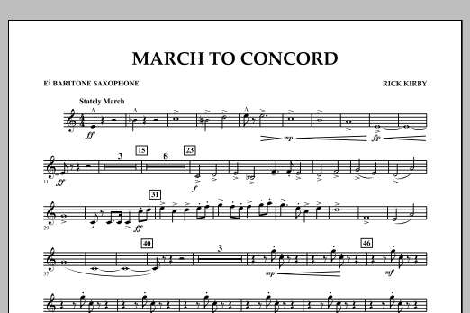 March to Concord - Eb Baritone Saxophone (Concert Band)