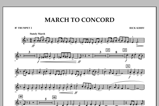 March to Concord - Bb Trumpet 2 (Concert Band)