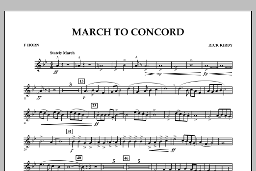 March to Concord - F Horn (Concert Band)