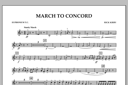 March to Concord - Euphonium T.C. (Concert Band)
