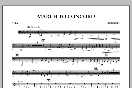 March to Concord - Tuba (Concert Band)