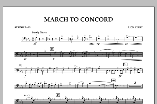 March to Concord - String Bass (Concert Band)