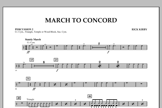 March to Concord - Percussion 2 (Concert Band)