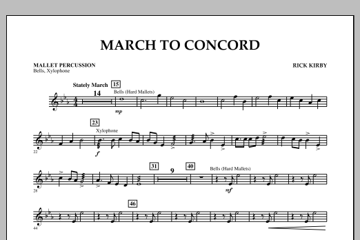 March to Concord - Mallet Percussion (Concert Band)