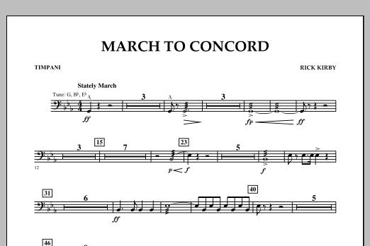 March to Concord - Timpani (Concert Band)