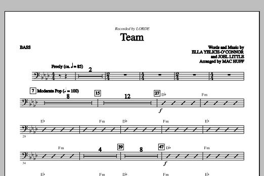 Team - Bass (C) (Choir Instrumental Pak)