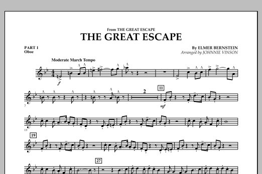 The Great Escape (March) - Pt.1 - Oboe (Flex-Band)