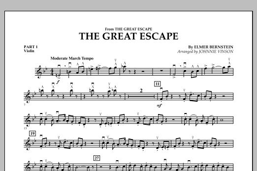 The Great Escape (March) - Pt.1 - Violin (Concert Band: Flex-Band)