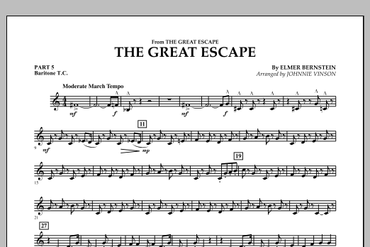 The Great Escape (March) - Pt.5 - Baritone T.C. (Flex-Band)