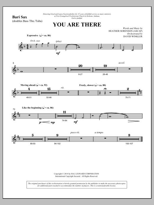 You Are There - Bari Sax (Choir Instrumental Pak)