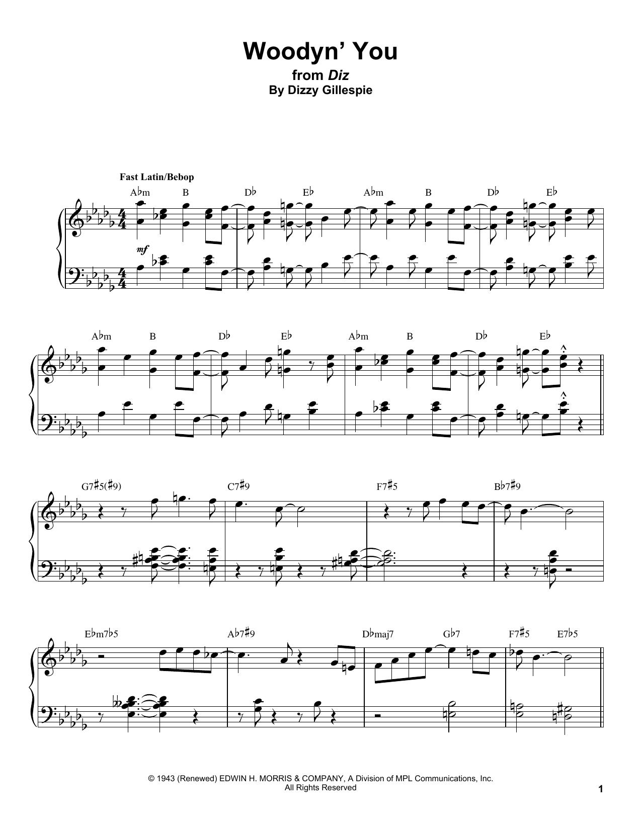 Woodyn' You Sheet Music