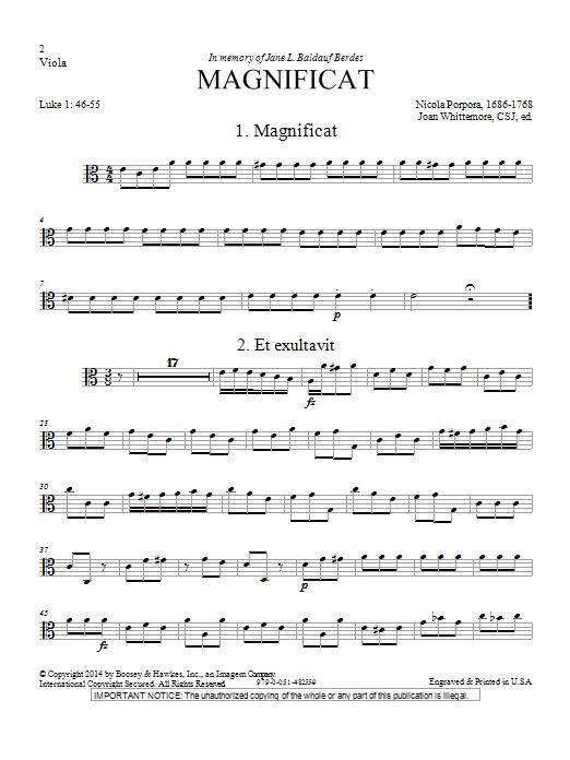 Magnificat in A Minor - Viola Digitale Noten