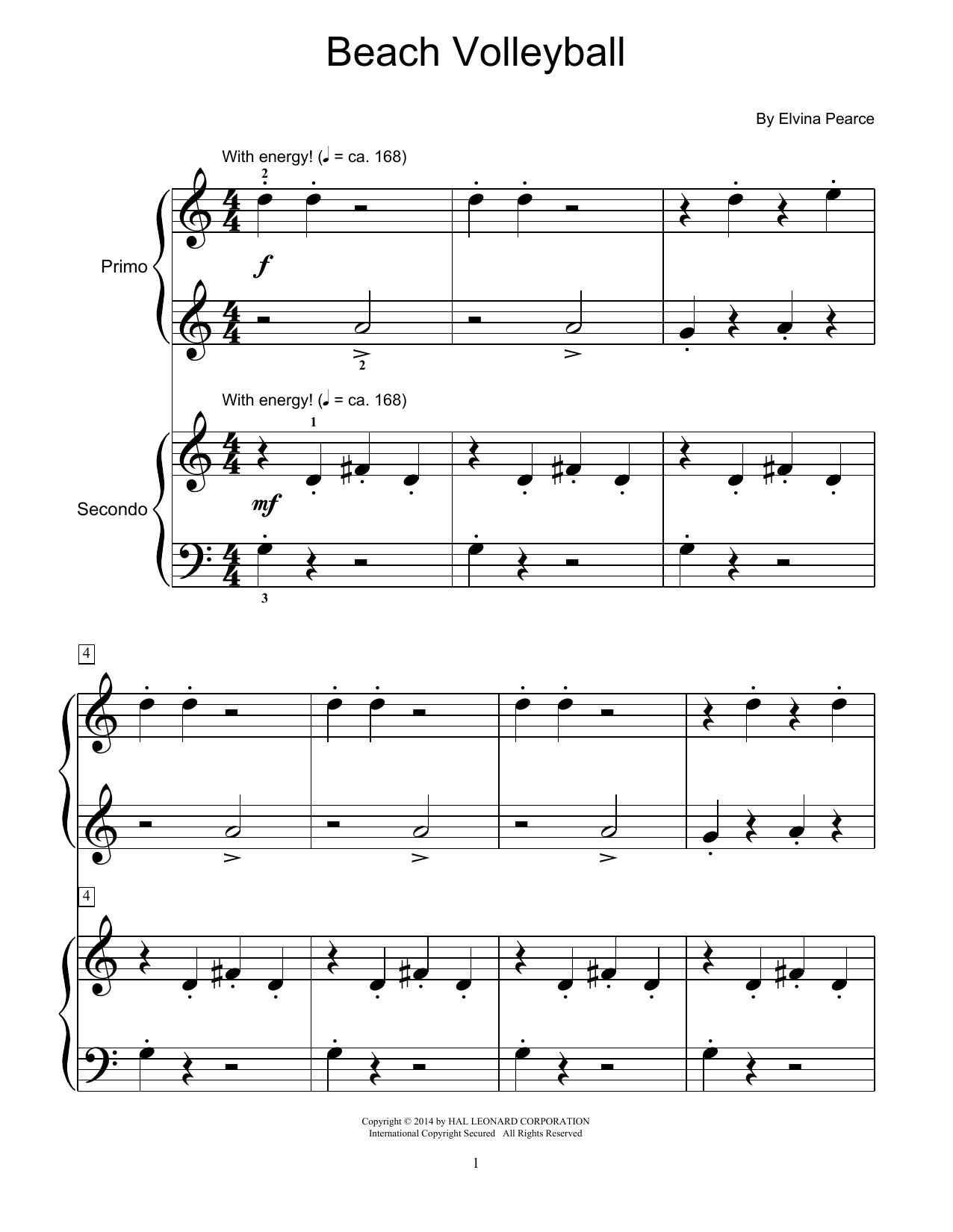 Beach Volleyball Sheet Music
