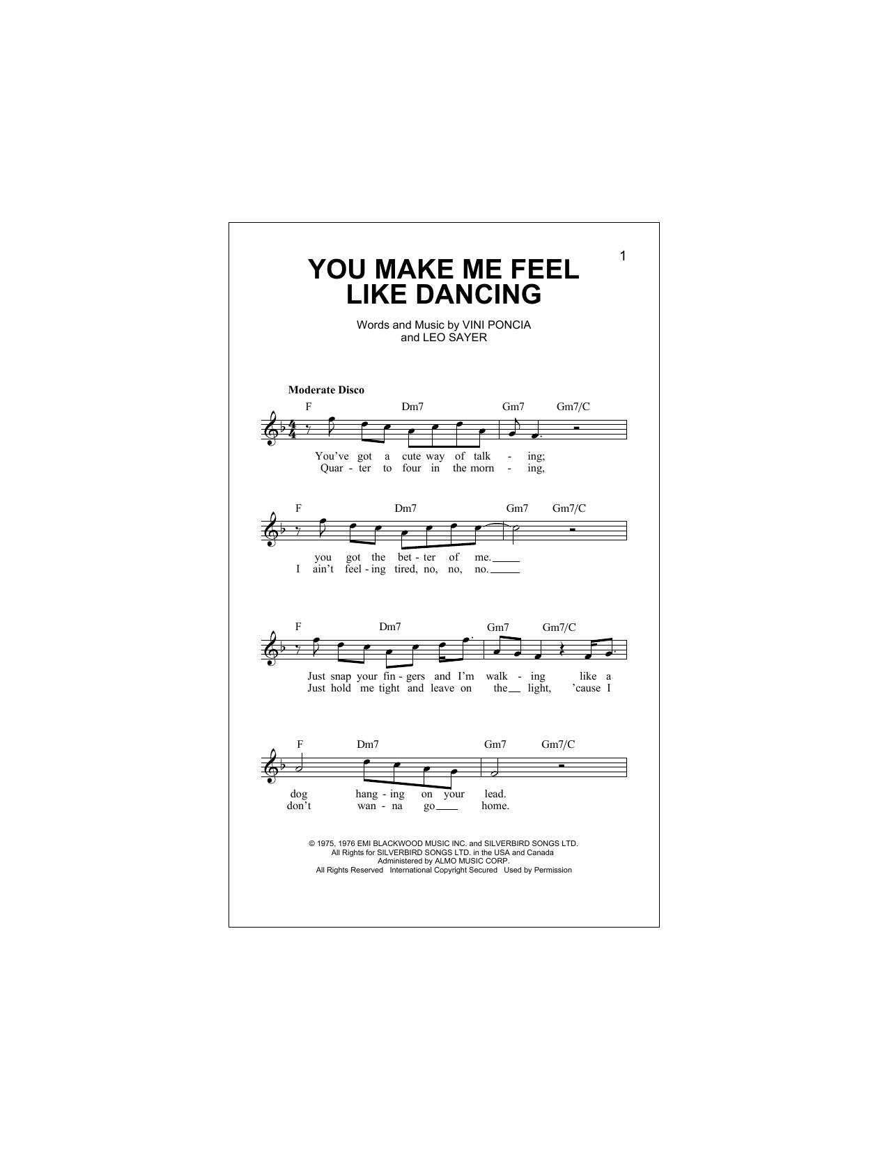 You Make Me Feel Like Dancing Sheet Music