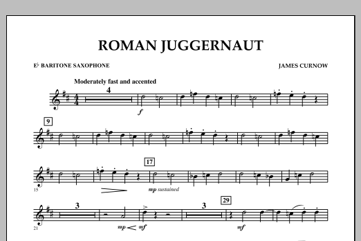 Roman Juggernaut - Eb Baritone Saxophone (Concert Band)