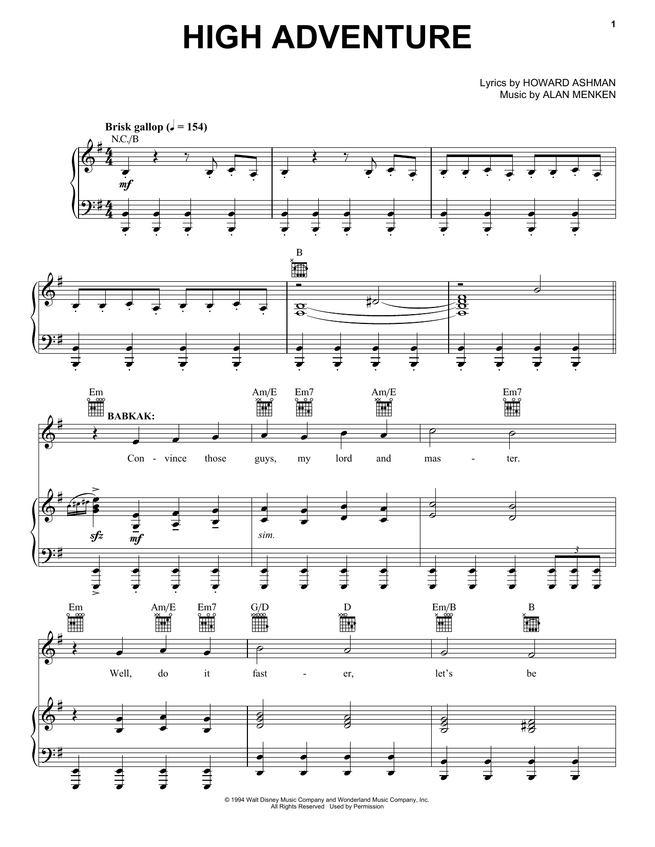 High Adventure Sheet Music