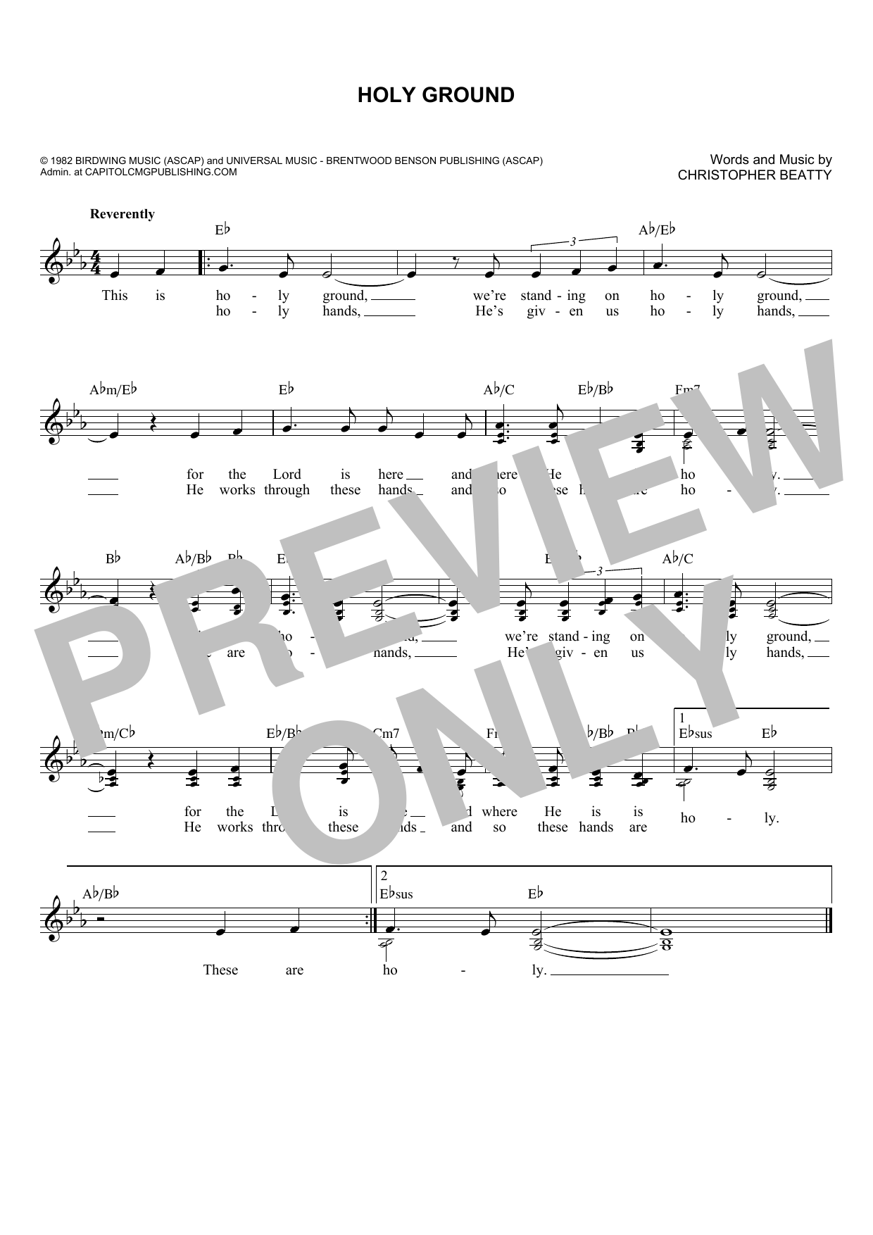 Holy Ground (Lead Sheet / Fake Book)