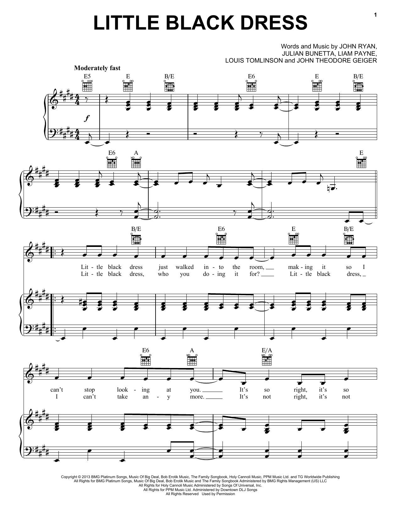 Little Black Dress Sheet Music