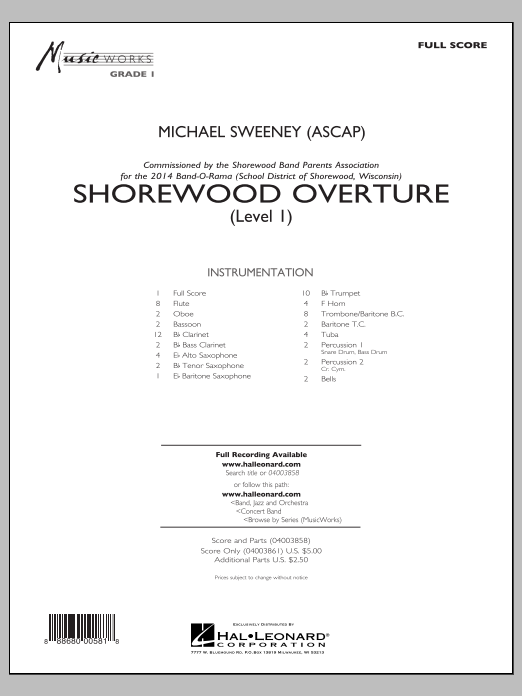 Shorewood Overture (for Multi-level Combined Bands) - Full Score (Level 1) (Concert Band)