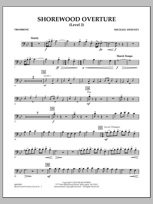 Shorewood Overture (for Multi-level Combined Bands) - Trombone (Level 2) (Concert Band)