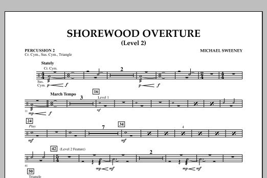 Shorewood Overture (for Multi-level Combined Bands) - Percussion 2 (Level 2) (Concert Band)