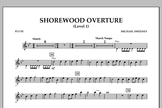Shorewood Overture (for Multi-level Combined Bands) - Flute (Level 1) (Concert Band)