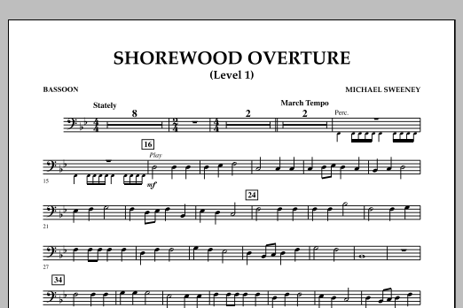 Shorewood Overture (for Multi-level Combined Bands) - Bassoon (Level 1) (Concert Band)