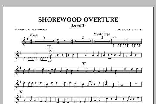 Shorewood Overture (for Multi-level Combined Bands) - Eb Baritone Saxophone (Level 1 (Concert Band)