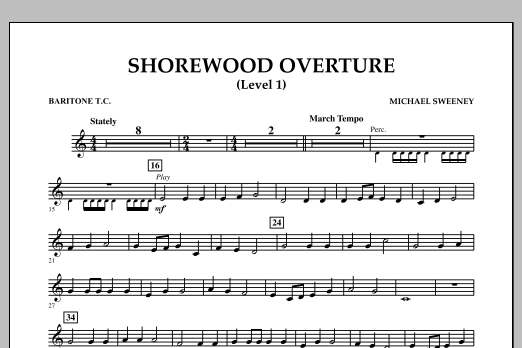 Shorewood Overture (for Multi-level Combined Bands) - Baritone T.C. (Level 1) (Concert Band)