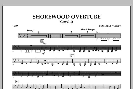 Shorewood Overture (for Multi-level Combined Bands) - Tuba (Level 1) (Concert Band)