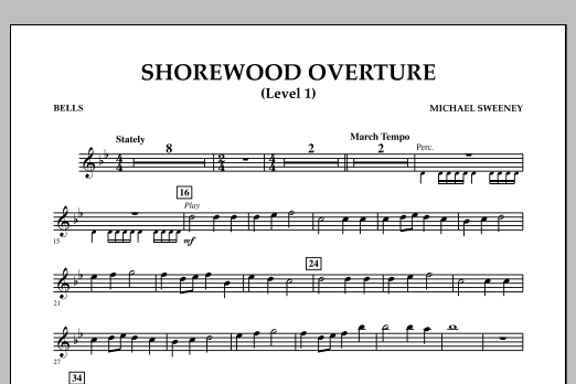 Shorewood Overture (for Multi-level Combined Bands) - Bells (Level 1) (Concert Band)
