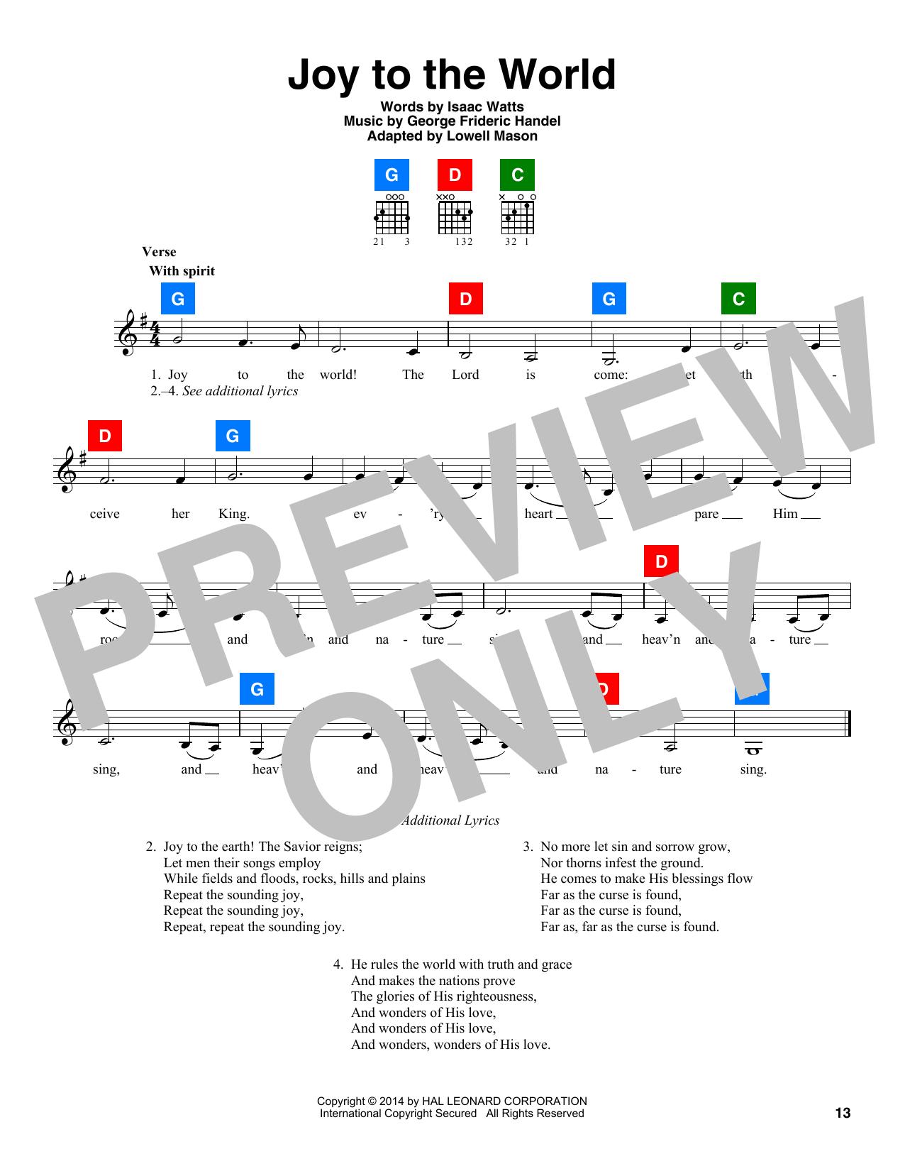 Partition autre Joy To The World de George Frideric Handel - Autre