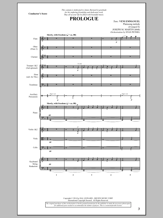 Canticles in Candlelight (COMPLETE) sheet music for orchestra/band by Joseph M. Martin and Miscellaneous. Score Image Preview.